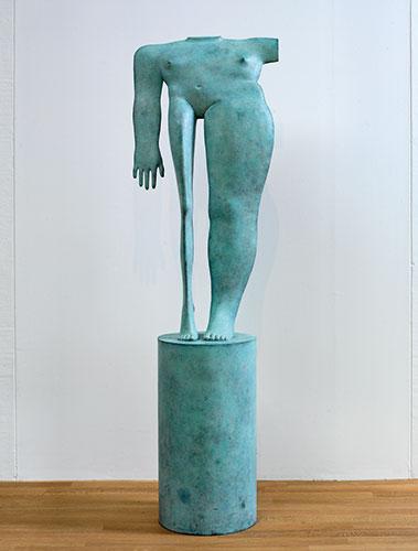 Kobe – Grande Torse Debout (Large Standing Torso) – 1999 – Bronze - 160 x 48 x 20 cm (base 60 x 30 cm) - Beeldengalerij Het Depot Wageningen - © John Stoel