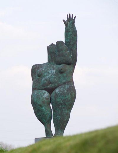 Kobe – La Belle (The Beautiful) – 1995 – Bronze - 260 x 130 x 33 cm – Private collection – © Eddy Daniëls