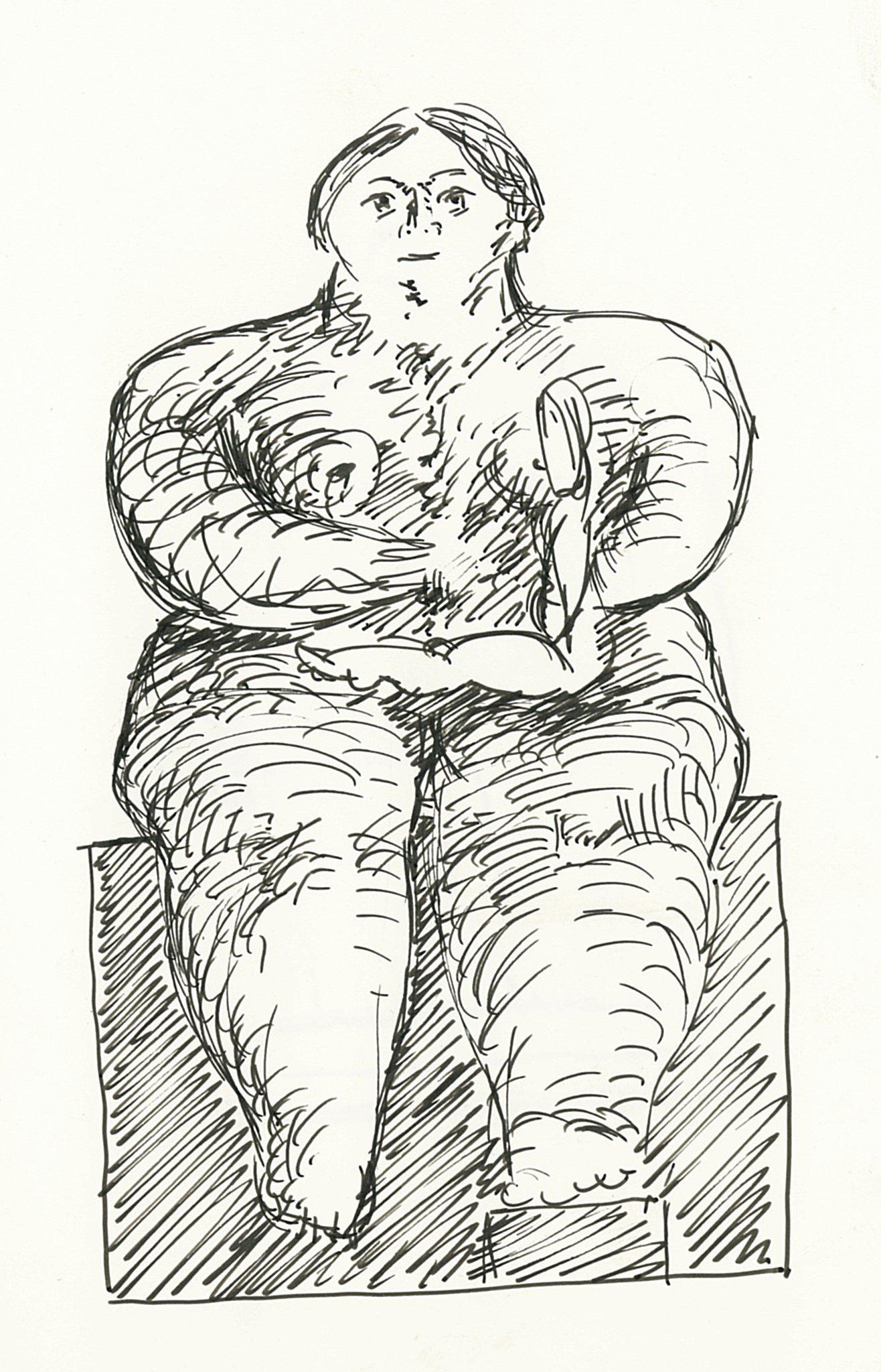 Kobe – Moeder en Kind (Mother and Child) - drawing - 1997 – (© Kobe)