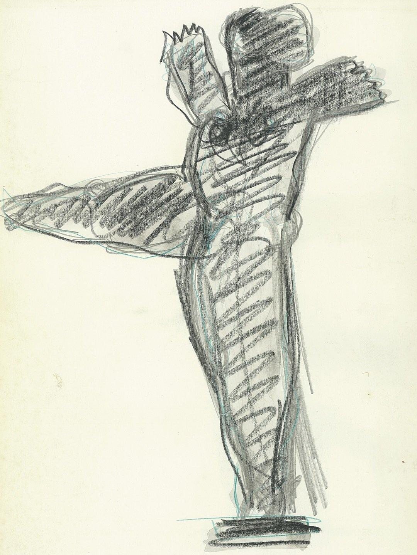 Kobe – La Danseuse de Nuit (The Night Dancer) - drawing - 1993 – (© Kobe)