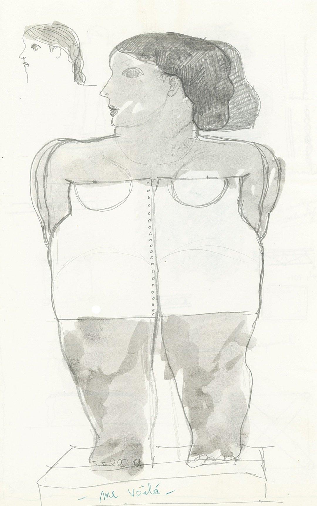 Kobe – Me Voilà (Here I Am) - drawing - 1994 – (© Kobe)