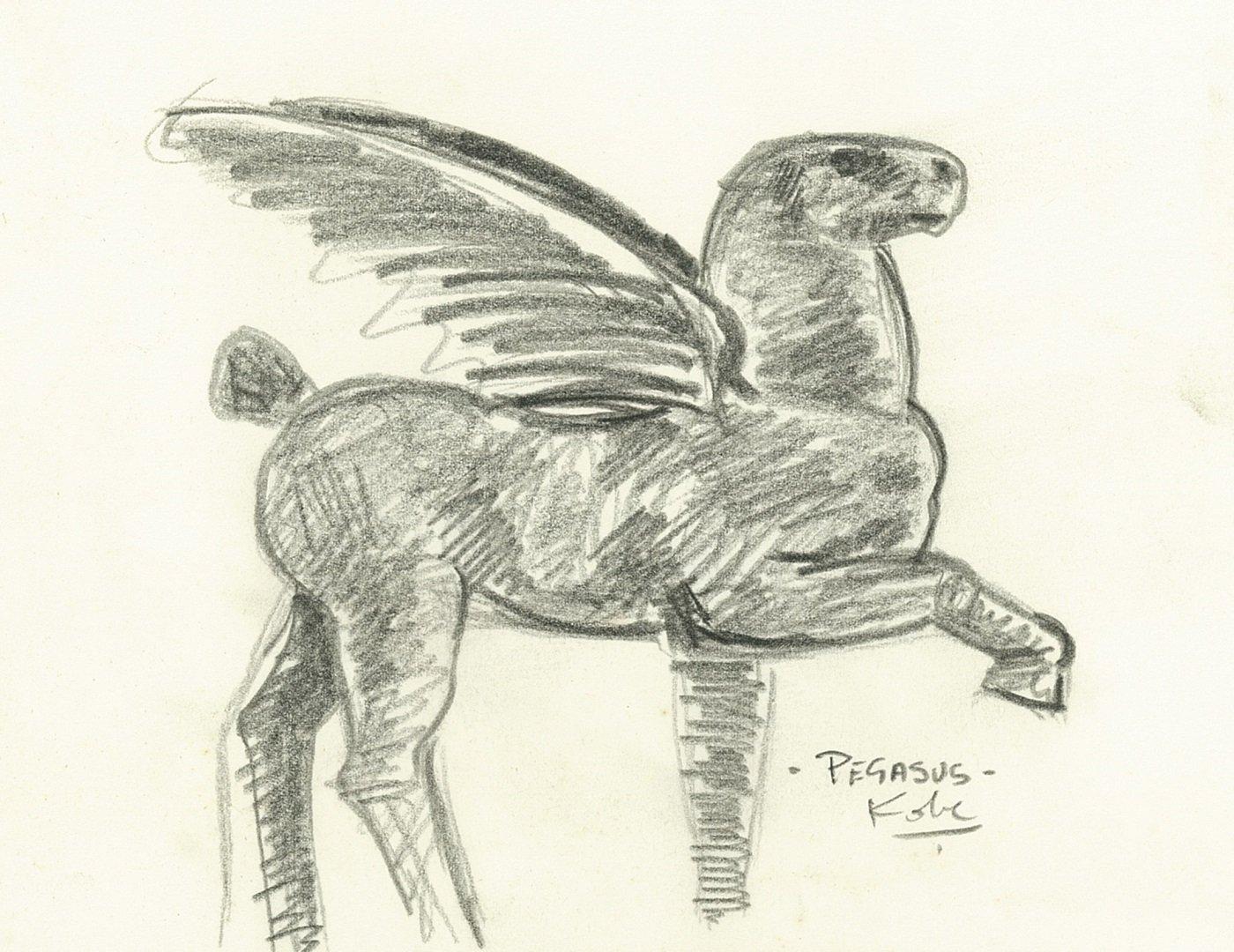 Kobe – Pegasus II (drawing) – 2004 – (© Kobe) 3