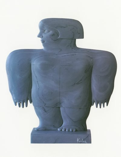 Kobe - Caro (Beloved) – 1994 – Private collection – Marble (Bardiglio Imperiale) – 51,5 x 46 x 5 cm – © Robinsons Art Gallery