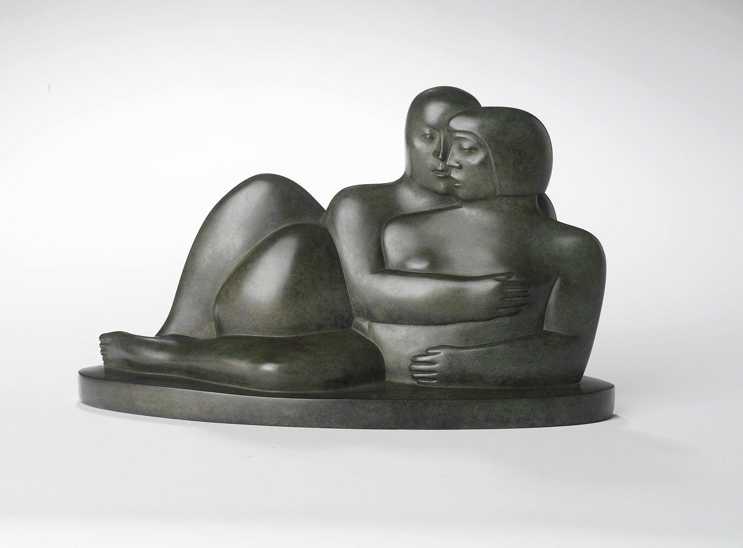 Kobe - Les Amants II (The Lovers II) - 2008 - Bronze - 22 x 34 x 12 cm - copyright Fotostudio Frans Lossie, Heusden 3