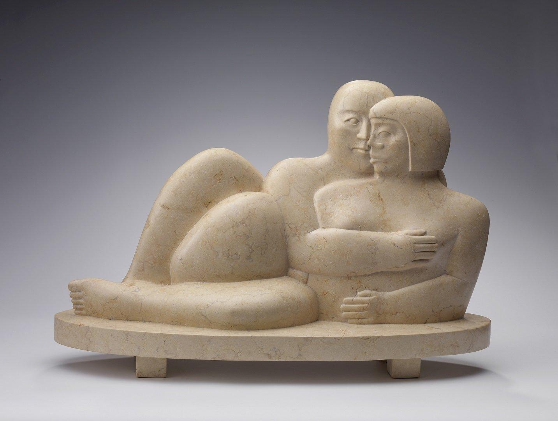 Kobe - Les Amants II (The Lovers II) - 2008 - Giallo Egitto marble - 43 x 64 x 24 cm - copyright Fotostudio Frans Lossie, Heusden 3