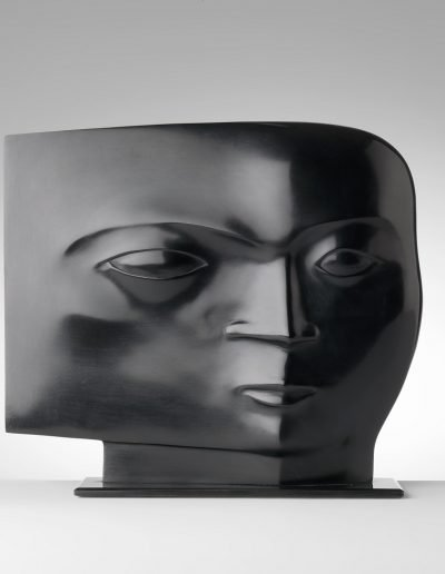 Kobe - Tête (Head) – 2009 – Bronze - 24 x 27 x 7 cm) (base 0,5 x 27,5 x 9,5 cm) – Private collection © copyright Fotostudio Frans Lossie, Heusden