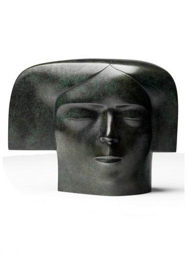 Kobe - Meditatie (Meditation) – 2011 – Bronze - 24 x 30 x 15, 5 cm – Private collection – © Fotostudio Frans Lossie, Heusden